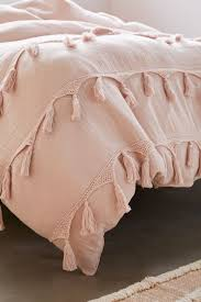 bungalow netted trim duvet cover bed