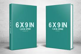 two 6 x 9 hardcovers standing psd mockup
