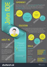 Modern Curriculum Vitae Cv Resume Template Stock Vector 293435423