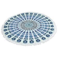 blue and white area rugs mandala wonder hand woven cotton blue white area rug cobalt blue
