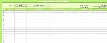 Accounting Ledger Templates Debit Credit Ledger Template