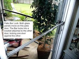 full image for sliding glass door bar lock sliding patio door security locks best sliding
