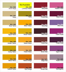 Free 8 Sample Ral Color Chart Templates In Pdf