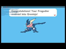 Pokemon Froakie Evolution Chart My Frogadier Evolves Into Greninja Pokemon Brick Bronze
