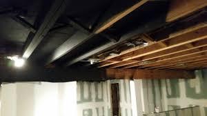 Exposed Basement Ceiling Sprayed Black DIY Album On Imgur - Exposed basement ceiling