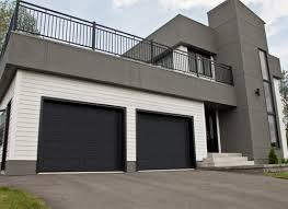 black garage doorContemporary Garage Doors