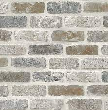 NextWall Washed Faux Brick Peel and ...