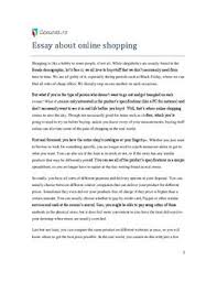 essay about online shopping ro