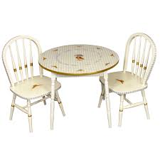 round play table and chair set antico white and blue gingham gold gilding