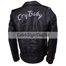 cry baby johnny depp biker leather jacket