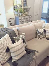 I like the layers on this couch (but my throw pillows literally get thrown  all over the floor)