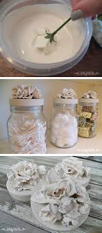 diy flower jars such a cute and fun home decor craft idea using plaster