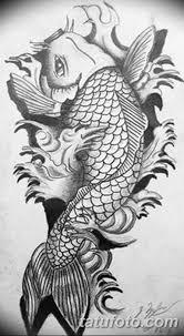 черно белый эскиз тату рисункок рыба 11032019 005 Tattoo Sketch