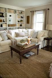 Cottage Style Living Room With Pottery Barn Sectional And Vintage Accents. Rustic U0026 Woven    Living Room   Pinterest   Pottery Barn Sectional, Cottage Style ...
