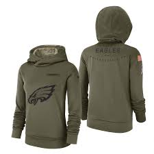 Olive Salute Hoodie To Service Eagles 2017