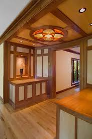 Wood Frame Ceiling Light Dining Room Contemporary With Kitchen Island Stained  Glass Natural Wood Floor