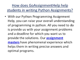 python programming assignment help python assignment experts 7