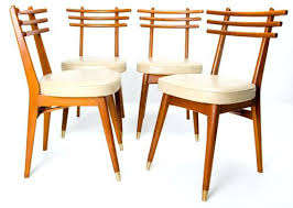 retro style furniture cheap. 1950s Furniture Style Set Of Four Retro Ladder Back Dining Chairs Danish 50s Legs Cheap O