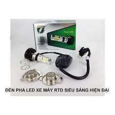 Đèn pha led 6 tim xe máy siêu sáng có quạt tản nhiệt cho đèn không nóng gây  chóa đèn