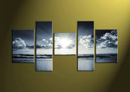 canvas prints black and white prints 5 piece canvas wall sea wall art on blue and white canvas wall art with 5 piece black and white blue ocean multi panel canvas