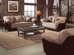 Transitional Living Room Furniture Two Tone Mocha Transitional Living Room W Pillow Top Seating