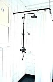 shower rod height curtain bathroom curved installation vanity lengths