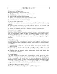 Night Auditor Job Description Resume Auditor Duties and Responsibilities Resume RESUME 1