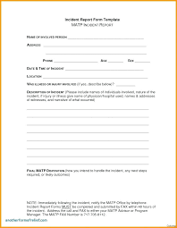 Incident Accident Report Form Template Arrowspoint Info