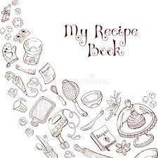 recipe book template stock vector ilration of background 61698774