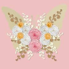 White Paper Flower Backdrop Pink And White Paper Flower Wall Flowers Healthy