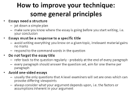 as a level business studies essay writing mr spicer ppt how to improve your technique some general principles essays need a structure jot down