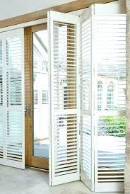 sliding glass door shutters plantation shutters for sliding glass doors or glass door shutters plantation barn