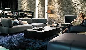image of modern blue area rug indoor
