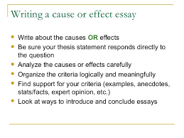 cause effect writing 15 writing a cause or effect essay