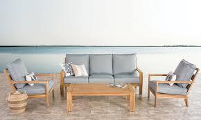bermuda 4 piece teak outdoor living room