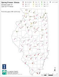Indiana Frost Depth Chart Illinois Frost Dates And Growing Season Illinois State
