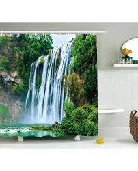 landscape shower curtain landscape shower curtain green botanic nature print for bathroom tropical landscape vinyl shower curtain