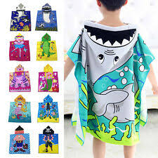 Adairs Kids Kids Boy Girl Hooded Poncho Swim Beach Bath Towel Wear Bathrobe Washcloth Gift Lelong Kids Hooded Beach Towel In Bath Towels Washcloths Ebay