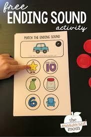 Consonant blends ending sounds worksheet education com also ending sounds worksheets kindergarten. Ending Sounds Activity The Measured Mom