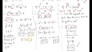 exponential equation rules and solving simple exponential equations