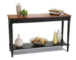sofa table with storage. Amazon.com: Convenience Concepts French Country Console Table With Drawer And Shelf, Natural: Kitchen \u0026 Dining Sofa Storage