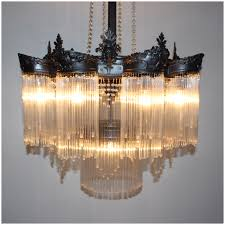 a1075 art deco glass straws chandelier