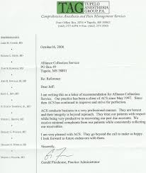 Tag Reference Letter Alliance Collection Service