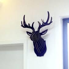 deer head wall decor wooden animal head wall decor silver deer head wall decor