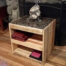 Wood Pallet Table Top Diy On How To Make A Pallet Table With A Coin Or Penny Top Youtube