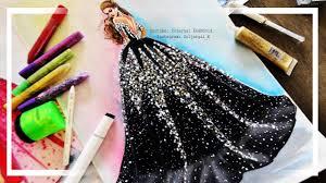 Youtube Fashion Design Sketches Super Easy Fashion Illustration Dress Painting Beginner Level