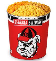 3 gallon university of georgia 3 flavor popcorn tins