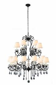 elegant lighting 1471g39vb diana 18 light crystal chandelier in vintage bronze with royal cut clear crystal and off white shade