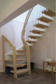 Simple Wood Stairs Design Simple Design Ideas Of Small Space Staircase With Brown