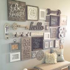 Entry Way Gallery Wall - Click image to get the gallery wall idea prints  and learn